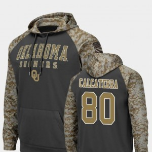 #80 Grant Calcaterra Oklahoma Sooners Colosseum Football United We Stand Men's Hoodie - Charcoal