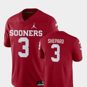 #3 Sterling Shepard Oklahoma Sooners Game College Football For Men's Jersey - Crimson