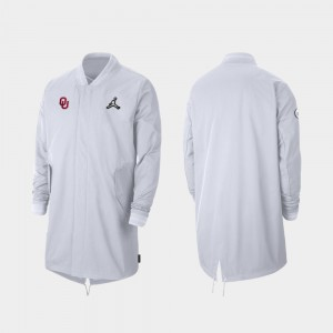 Oklahoma Sooners Mens 2019 College Football Playoff Bound Sideline Full-Zip Jacket - White