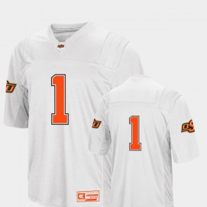 #1 Oklahoma State Cowboys and Cowgirls College Football Men's Colosseum 2018 Jersey - White