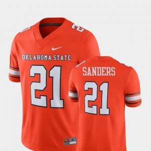 #21 Barry Sanders Oklahoma State Cowboys and Cowgirls Alumni Football Game Player For Men's Jersey - Orange