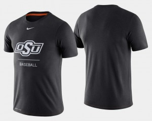 Oklahoma State Cowboys and Cowgirls College Baseball For Men Dugout Performance T-Shirt - Black