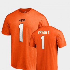#1 Dez Bryant Oklahoma State Cowboys and Cowgirls College Legends Name & Number Men's T-Shirt - Orange