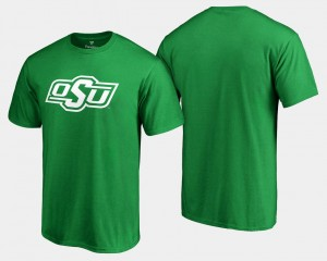 Oklahoma State Cowboys and Cowgirls Men's St. Patrick's Day White Logo Big & Tall T-Shirt - Kelly Green