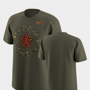 Oklahoma State Cowboys and Cowgirls For Men Legend Camo T-Shirt - Olive