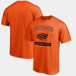 Oklahoma State Cowboys and Cowgirls Campus Icon Men's Big & Tall T-Shirt - Orange