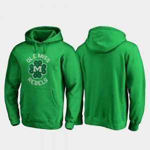 Ole Miss Rebels Luck Tradition St. Patrick's Day For Men Hoodie - Kelly Green