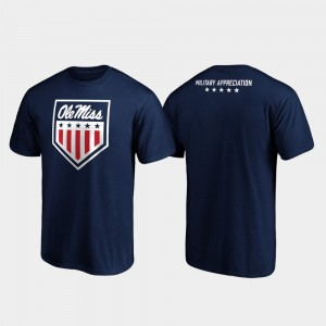Ole Miss Rebels OHT Military Appreciation For Men's Military Appreciation T-Shirt - Navy