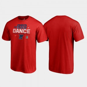 Ole Miss Rebels Big Dance March Madness 2019 NCAA Basketball Tournament Mens T-Shirt - Red