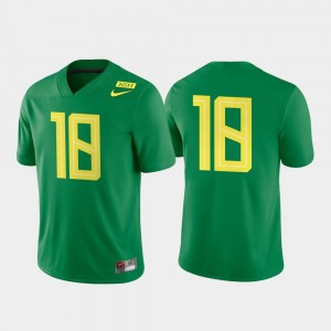 #18 Oregon Ducks For Men Game Authentic College Football Jersey - Apple Green