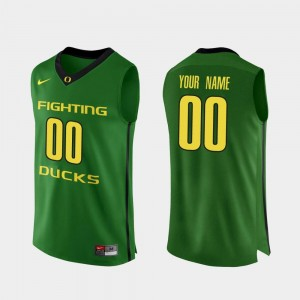 #00 Oregon Ducks Authentic For Men's College Basketball Customized Jerseys - Apple Green