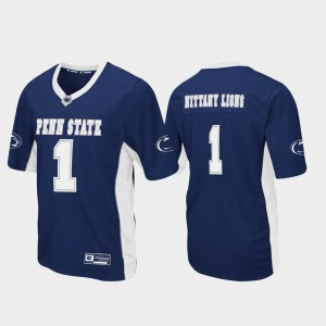 #1 Penn State Nittany Lions Men Max Power Football Jersey - Navy
