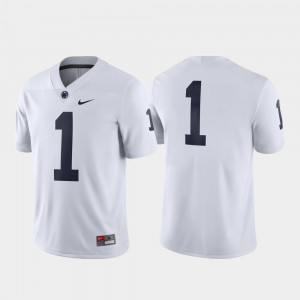 #1 Penn State Nittany Lions Game Men's Jersey - White
