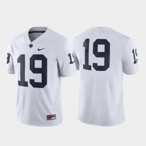 #19 Penn State Nittany Lions Men's Football Game Jersey - White