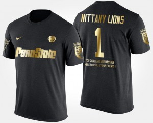 #1 Penn State Nittany Lions Gold Limited Men No.1 Short Sleeve With Message T-Shirt - Black