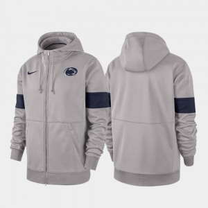 Penn State Nittany Lions Men's Performance Full-Zip 2019 Sideline Therma-FIT Hoodie - Gray