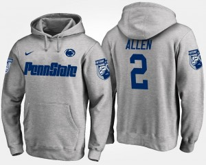 #2 Marcus Allen Penn State Nittany Lions Men Hoodie - Gray