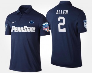 #2 Marcus Allen Penn State Nittany Lions Bowl Game Fiesta Bowl For Men's Polo - Navy