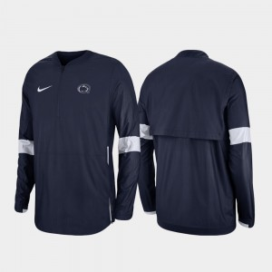 Penn State Nittany Lions 2019 Coaches Sideline Quarter-Zip Mens Jacket - Navy