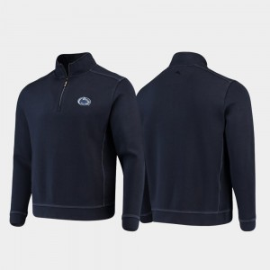 Penn State Nittany Lions For Men's Half-Zip Pullover Tommy Bahama College Sport Nassau Jacket - Navy