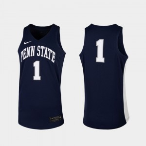 #1 Penn State Nittany Lions For Men's College Basketball Replica Jersey - Navy