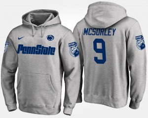 #9 Trace McSorley Penn State Nittany Lions For Men's Hoodie - Gray