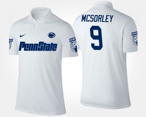 #9 Trace McSorley Penn State Nittany Lions Men Polo - White