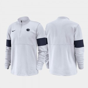Penn State Nittany Lions Half-Zip Performance 2019 Coaches Sideline For Men Jacket - White