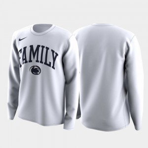 Penn State Nittany Lions March Madness Legend Basketball Long Sleeve Family on Court For Men T-Shirt - White