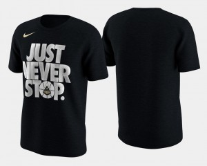 Purdue Boilermakers March Madness Selection Sunday Basketball Tournament Just Never Stop Mens T-Shirt - Black