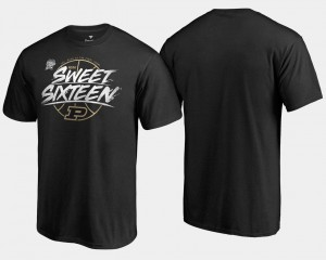 Purdue Boilermakers Sweet 16 Bound 2018 March Madness Basketball Tournament Backdoor Men T-Shirt - Black