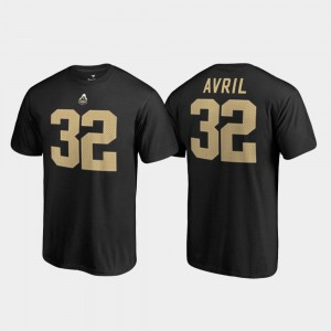 #32 Cliff Avril Purdue Boilermakers For Men's Name & Number College Legends T-Shirt - Black
