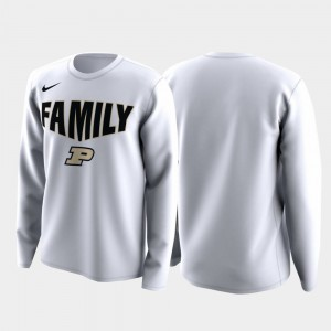 Purdue Boilermakers Men's March Madness Legend Basketball Long Sleeve Family on Court T-Shirt - White