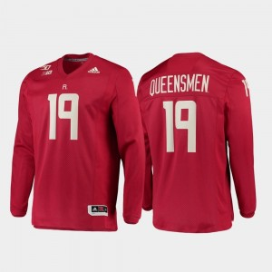 #19 Rutgers Scarlet Knights Strategy Long Sleeve College Football 150th Anniversary For Men Jersey - Scarlet