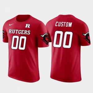 #00 Rutgers Scarlet Knights Future Stars Cotton Football For Men Custom T-Shirts - Red