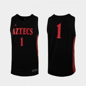 #1 San Diego State Aztecs College Basketball Replica For Men Jersey - Black