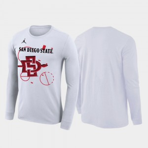 San Diego State Aztecs Men 2020 March Madness Our Time Bench Legend T-Shirt - White