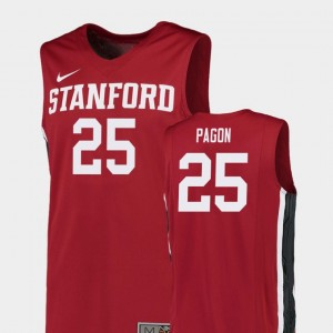 #25 Blake Pagon Stanford Cardinal Replica College Basketball Mens Jersey - Red