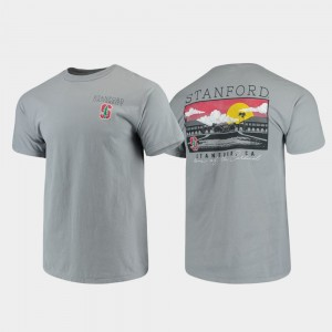 Stanford Cardinal Campus Scenery Comfort Colors For Men's T-Shirt - Gray