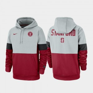 Stanford Cardinal For Men Rivalry Therma Performance Pullover Hoodie - Gray Cardinal