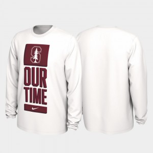 Stanford Cardinal 2020 March Madness Our Time Bench Legend Men T-Shirt - White