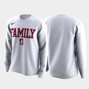 Stanford Cardinal March Madness Legend Basketball Long Sleeve Family on Court Men's T-Shirt - White