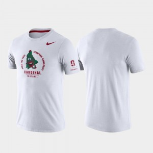 Stanford Cardinal Rivalry Tri-Blend Performance For Men T-Shirt - White