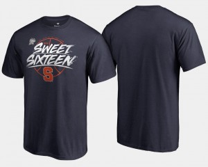 Syracuse Orange Sweet 16 Bound For Men's 2018 March Madness Basketball Tournament Backdoor T-Shirt - Navy