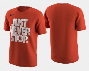 Syracuse Orange Basketball Tournament Just Never Stop March Madness Selection Sunday Mens T-Shirt - Orange