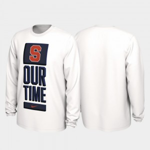 Syracuse Orange 2020 March Madness Men's Our Time Bench Legend T-Shirt - White