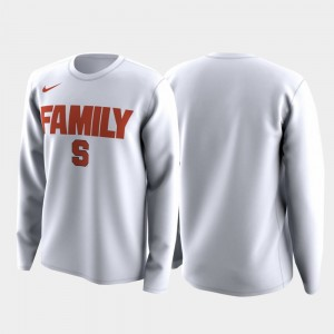 Syracuse Orange For Men's March Madness Legend Basketball Long Sleeve Family on Court T-Shirt - White