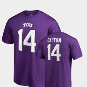 #14 Andy Dalton TCU Horned Frogs College Legends For Men Name & Number T-Shirt - Purple