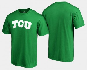 TCU Horned Frogs For Men St. Patrick's Day White Logo Big & Tall T-Shirt - Kelly Green