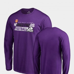 TCU Horned Frogs 2018 Cheez-It Bowl Bound Audible Long Sleeve Mens T-Shirt - Purple